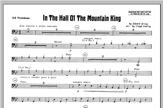In the Hall of the Mountain King - Trombone 3 - Sheet Music