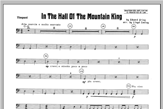 In the Hall of the Mountain King - Percussion 4 Sheet Music