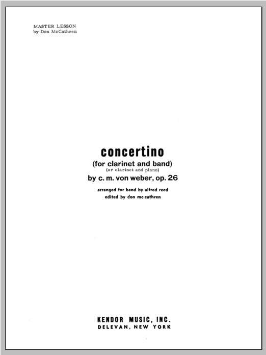 Concertino - Performance Notes Sheet Music