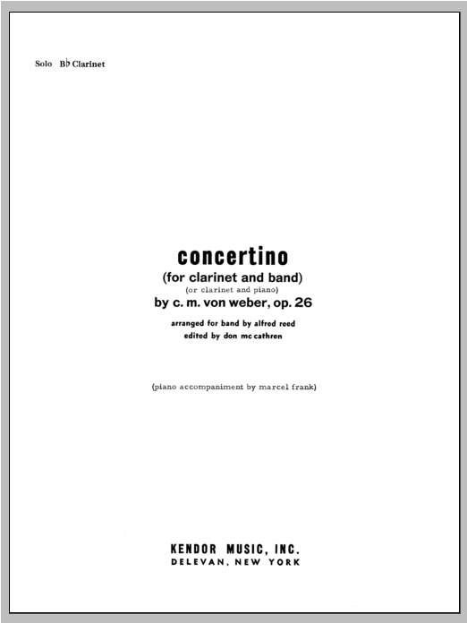 Concertino - Solo Bb Clarinet Sheet Music