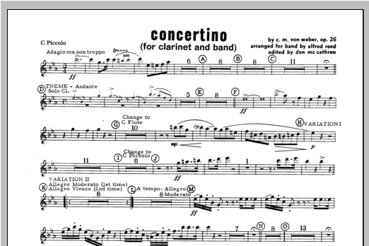 Concertino - Piccolo Sheet Music