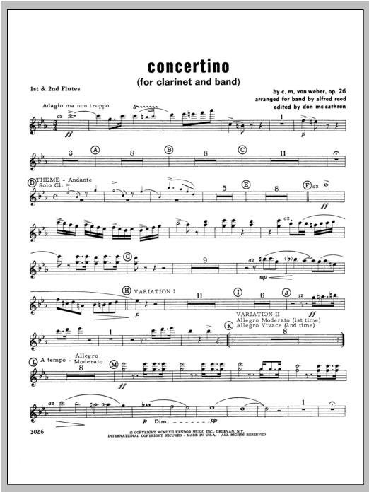 Concertino - Flute Sheet Music