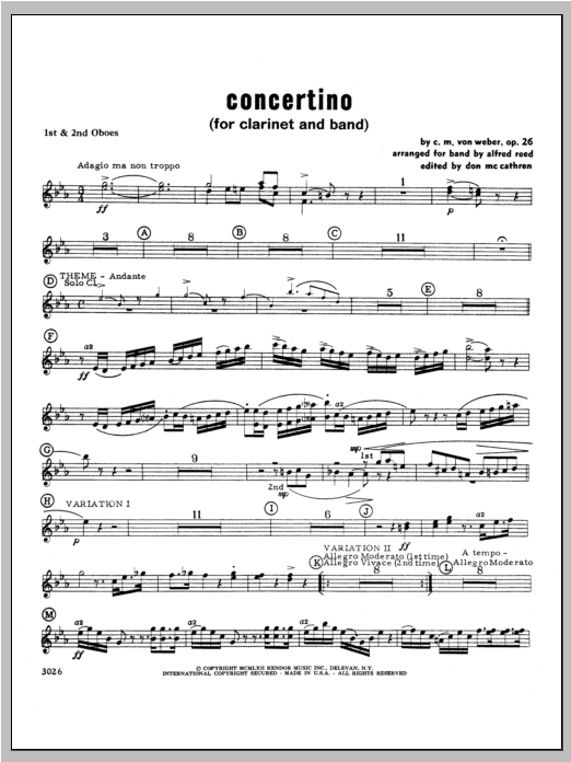 Concertino - Oboe Sheet Music
