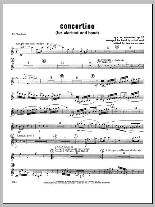 Concertino - Clarinet Sheet Music