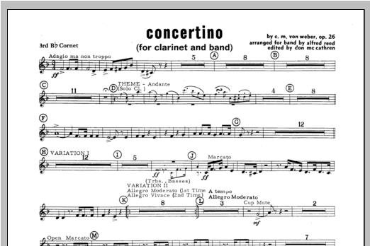 Concertino - Bb Cornet 3 (Concert Band)