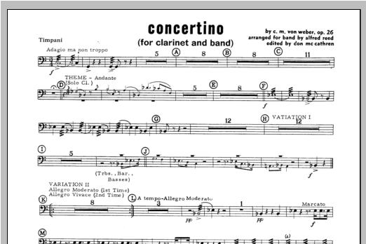 Concertino - Percussion 4 Sheet Music