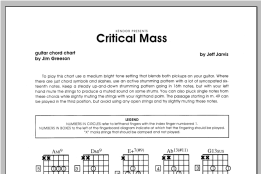 Critical Mass - Guitar Sheet Music