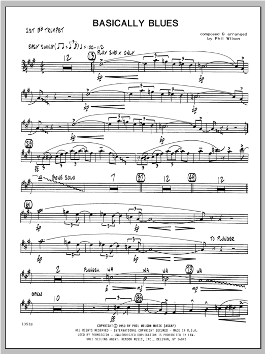 Basically Blues - Trumpet 1 Sheet Music