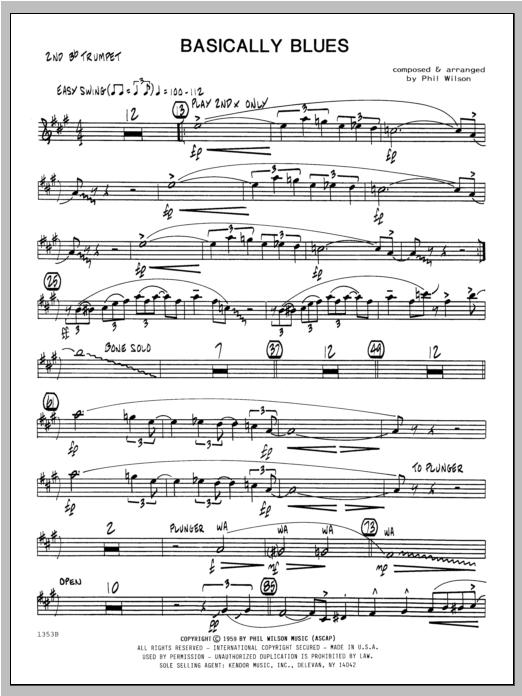 Basically Blues - Trumpet 2 Sheet Music