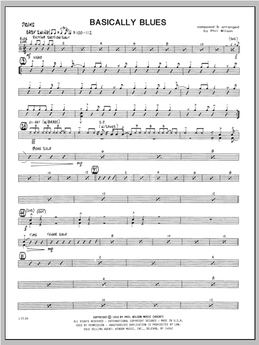 Basically Blues - Drums Sheet Music