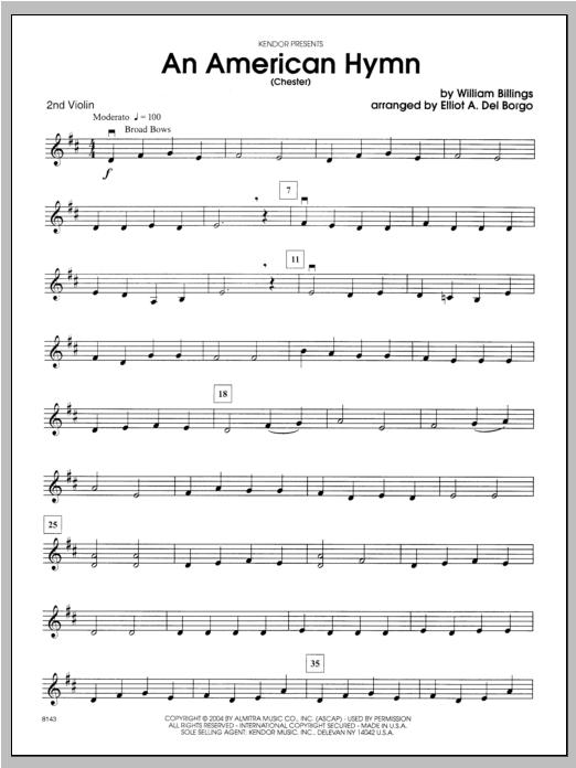 An American Hymn (Chester) - Violin 2 Sheet Music