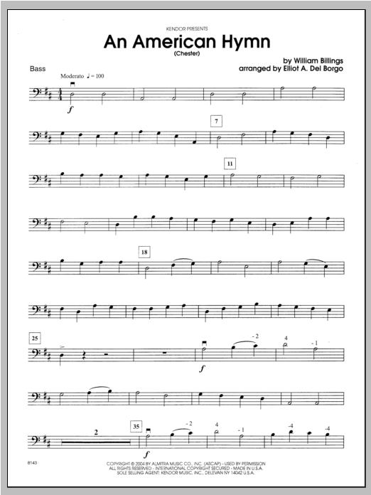 An American Hymn (Chester) - Bass Sheet Music