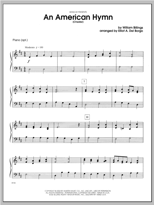 An American Hymn (Chester) - Piano Sheet Music