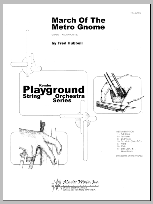 March Of The Metro Gnome (COMPLETE) sheet music for orchestra by Hubbell. Score Image Preview.