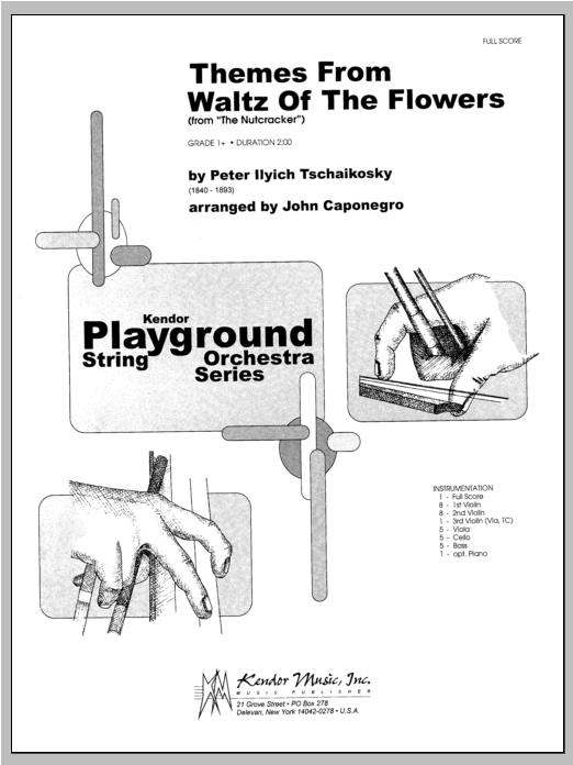 Themes From Waltz Of The Flowers (From The Nutcracker) (COMPLETE) sheet music for orchestra by Caponegro, Pyotr Ilyich Tchaikovsky and Tschaikowsky. Score Image Preview.