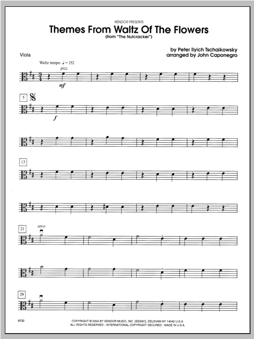 Themes From Waltz Of The Flowers (From The Nutcracker) - Viola Sheet Music