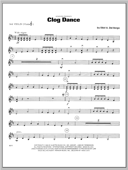 Clog Dance - Violin 3 Sheet Music