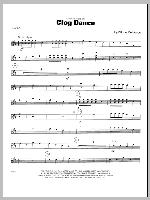 Clog Dance - Viola Sheet Music
