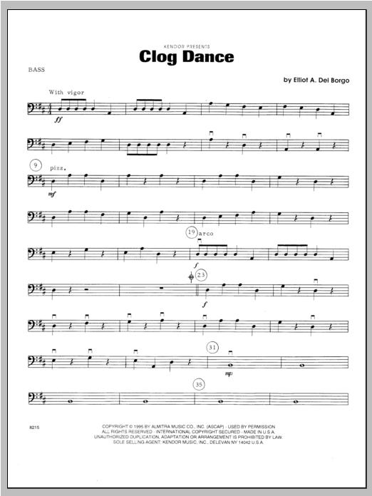 Clog Dance - Bass Sheet Music