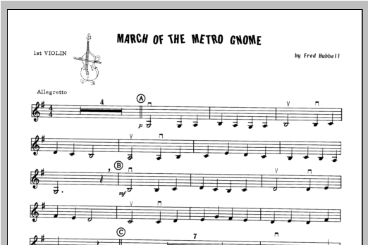 March Of The Metro Gnome - Violin 1 Sheet Music
