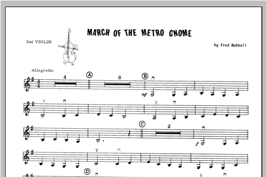 March Of The Metro Gnome - Violin 2 Sheet Music