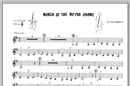 March Of The Metro Gnome - Violin 3 Sheet Music