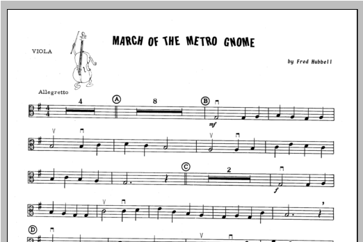 March Of The Metro Gnome - Viola Sheet Music
