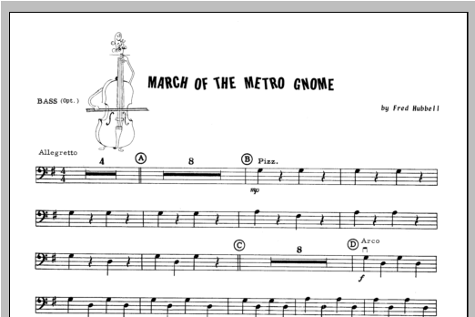 March Of The Metro Gnome - Bass Sheet Music