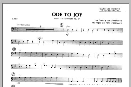 Ode To Joy - Bass Sheet Music