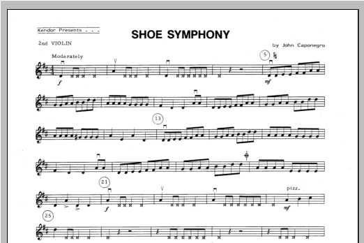 Shoe Symphony - Violin 2 Sheet Music