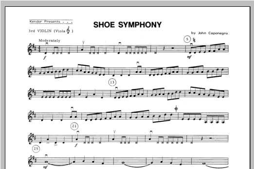 Shoe Symphony - Violin 3 Sheet Music