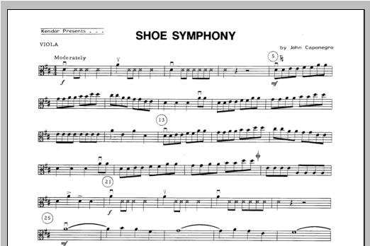 Shoe Symphony - Viola Sheet Music
