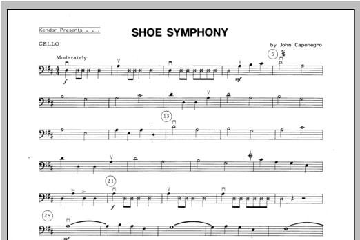 Shoe Symphony - Cello Sheet Music