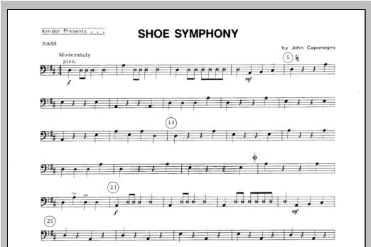 Shoe Symphony - Bass Sheet Music