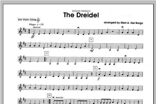 Dreidel, The - Violin 3 Sheet Music