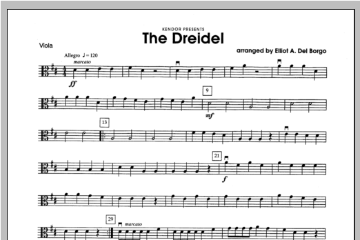 Dreidel, The - Viola Sheet Music