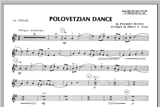 Polovetzian Dance - Violin 1 Sheet Music