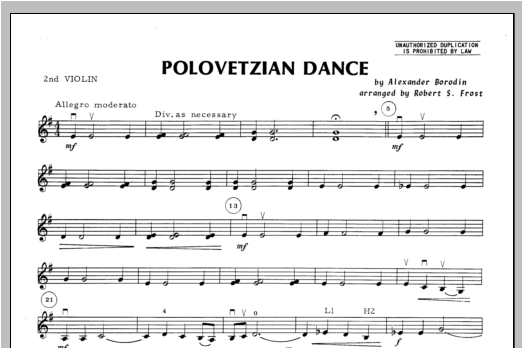 Polovetzian Dance - Violin 2 Sheet Music