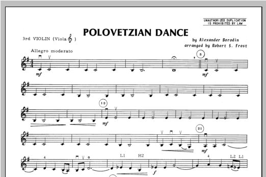 Polovetzian Dance - Violin 3 Sheet Music