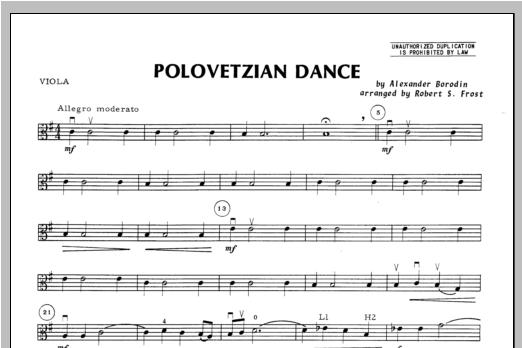 Polovetzian Dance - Viola Sheet Music