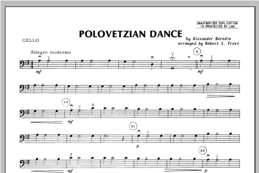 Polovetzian Dance - Cello Sheet Music