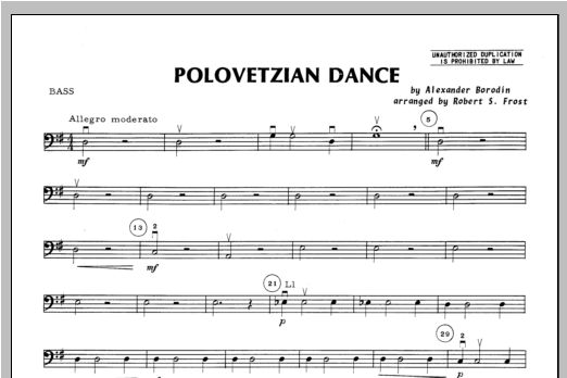 Polovetzian Dance - Bass Sheet Music