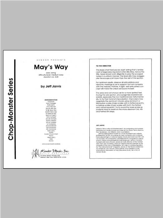 May's Way - Full Score Sheet Music