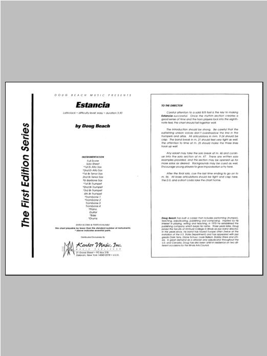 Estancia - Full Score Sheet Music