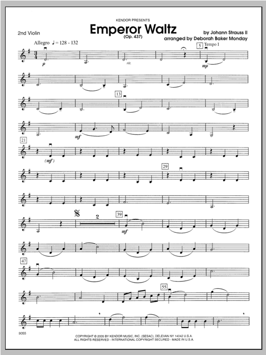 Emperor Waltz (Opus 437) - Violin 2 Sheet Music
