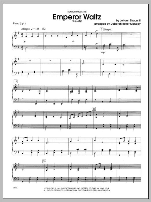 Emperor Waltz (Opus 437) - Piano Sheet Music