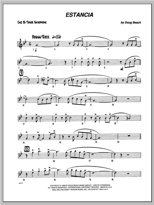 Estancia - Tenor Sax 2 Digitale Noten