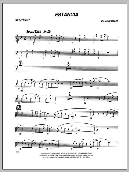 Estancia - Trumpet 1 Sheet Music