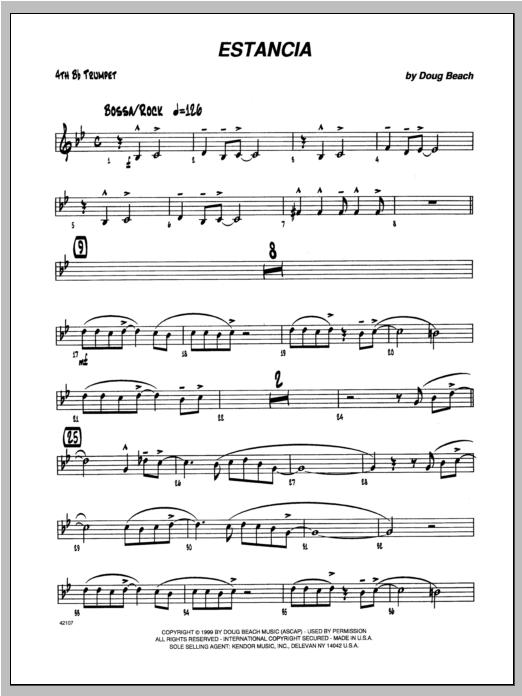 Estancia - Trumpet 4 Sheet Music