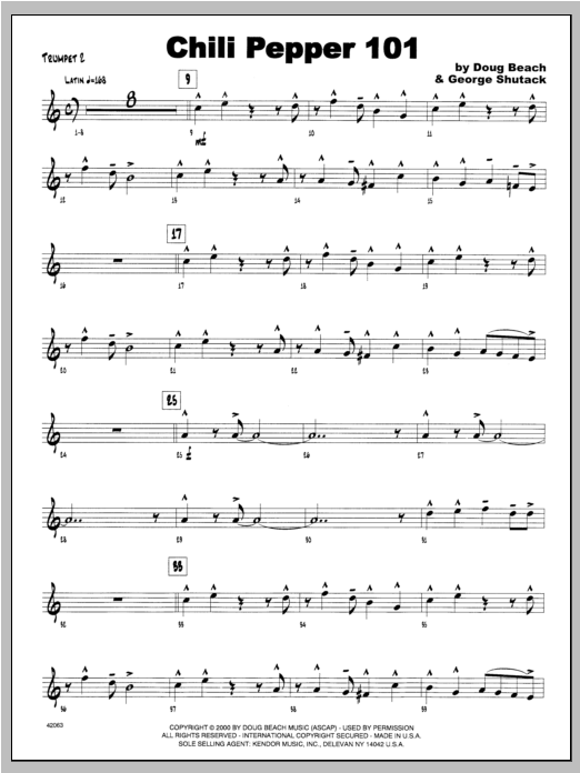 Chili Pepper 101 - Trumpet 2 Sheet Music